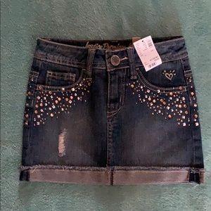 Justice Embellished Jean Skirt
